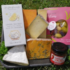 Cheese hamper with olives